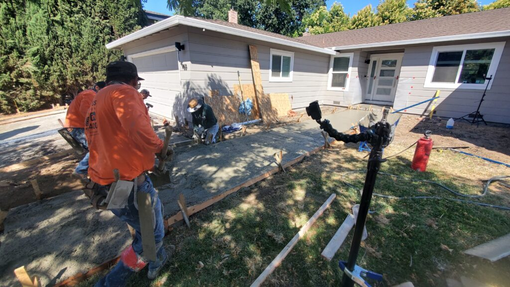 How to pour Pouring Concrete steps bay area