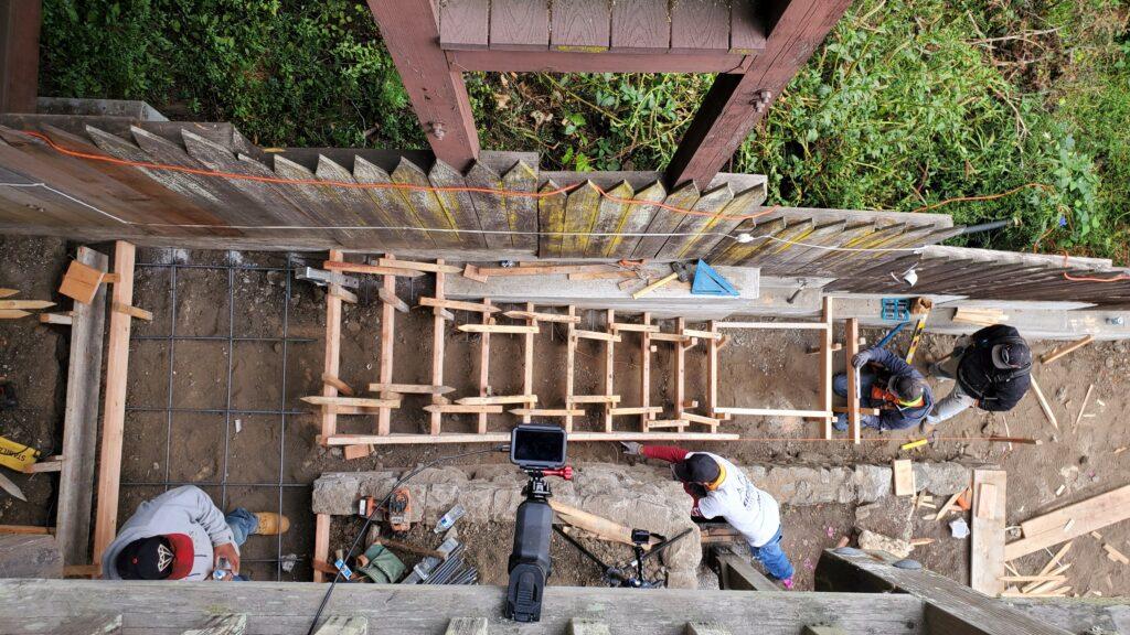 how to frame concrete steps San Francisco