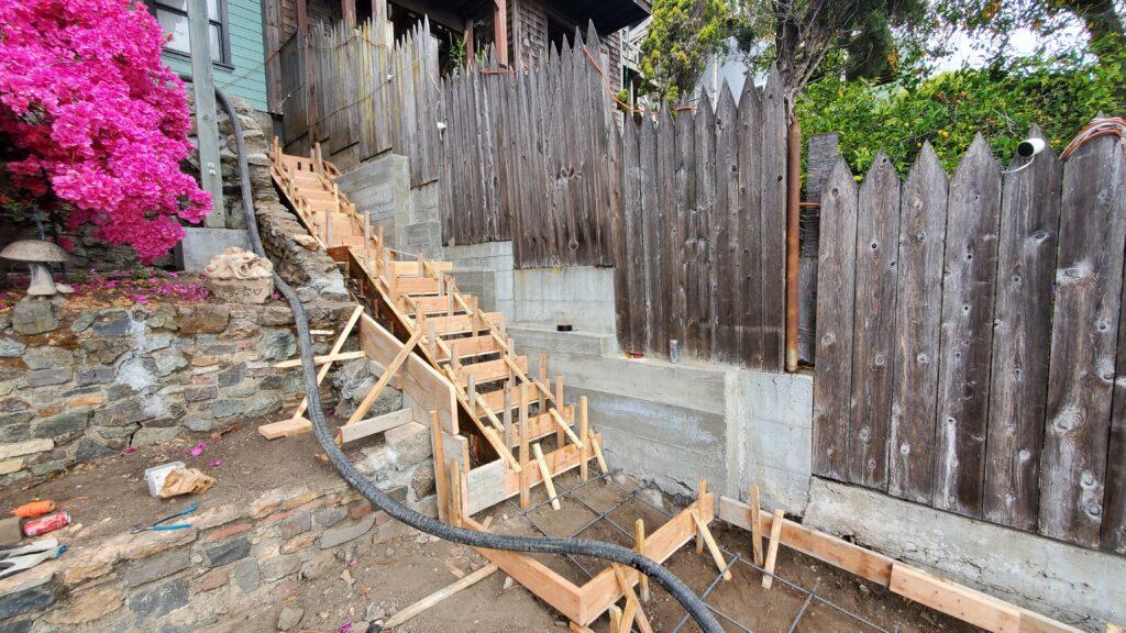 How to build concrete steps san francisco
