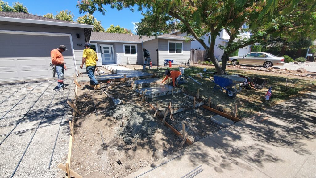 How to finish concrete steps bay area