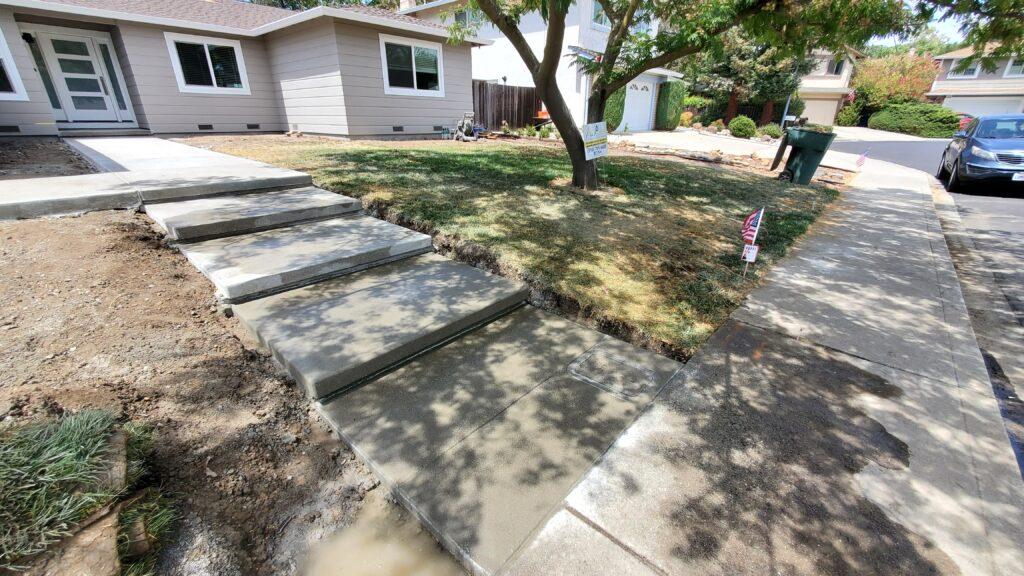 Sandwash concrete steps