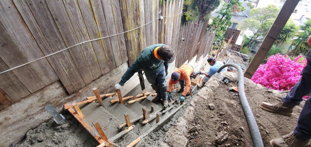 How to pour concrete steps san francisco