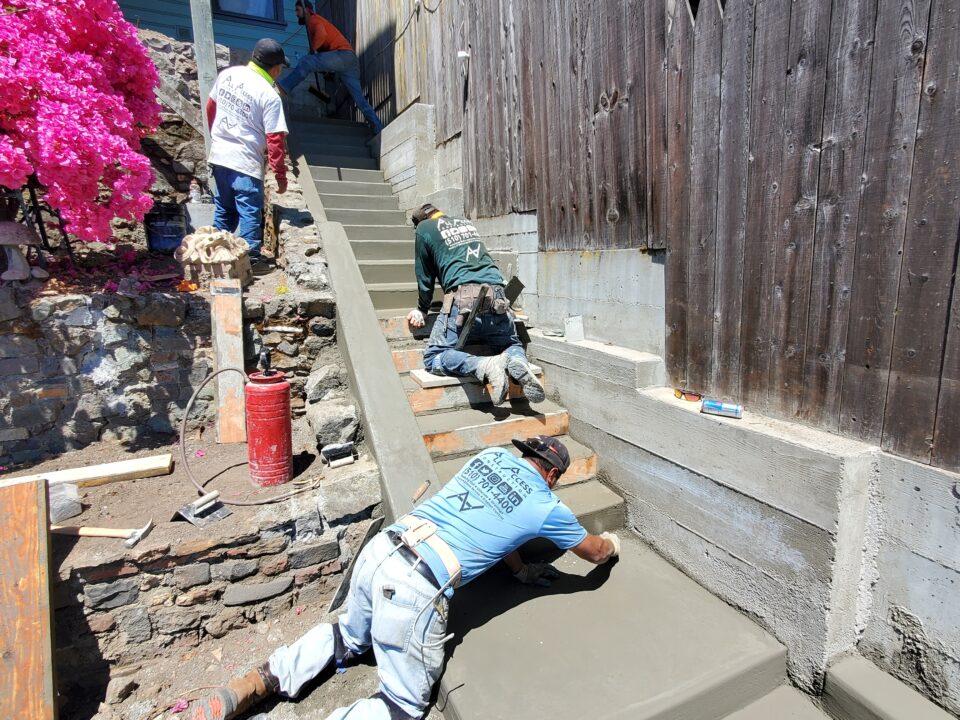 How to set and pour concrete steps san francisco